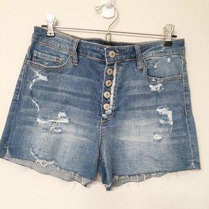 Pants - Vervet High Rise Denim Jean Distressed Shorts